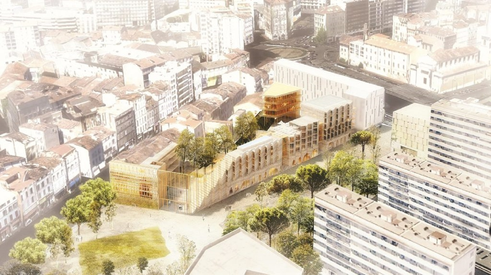 projet urbain marseille ilot sur le parc laureat